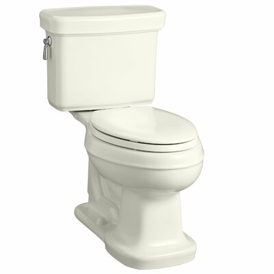 Bancroft Comfort Height Two-Piece Elongated 1.28 GPF Toilet with Aquapiston Flush Technology Finish: Biscuit