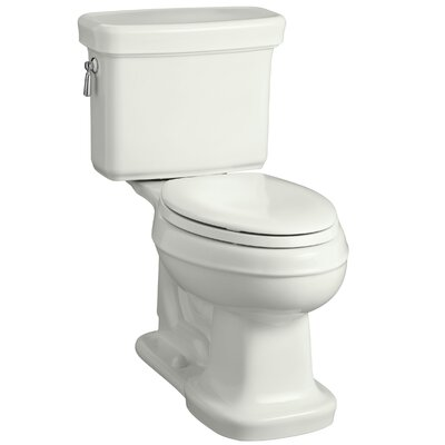Bancroft Comfort Height Two-Piece Elongated 1.28 GPF Toilet with Aquapiston Flush Technology Finish: Dune