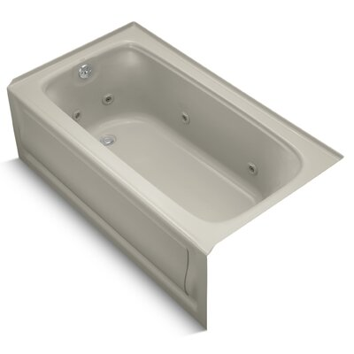 Bancroft Alcove 60 x 32 Whirpool Bathtub Finish: Sandbar