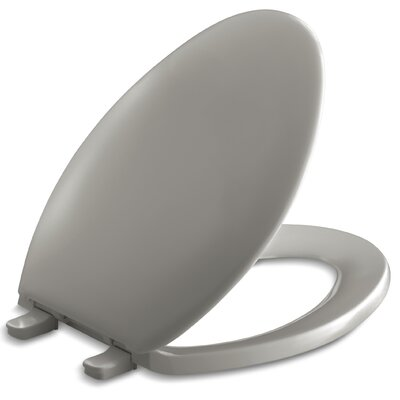 Bancroft with Quick-Release Hinges Elongated Toilet Seat with Plastic Hinges Finish: Cashmere