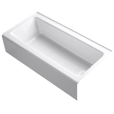 Bellwether Raphael 60 X 30 Bath with Integral Apron Finish: White, Drain Location: Left