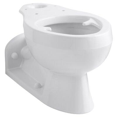 Barrington Elongated Bowl with Pressure Lite Flushing Technology, Less Seat Finish: White