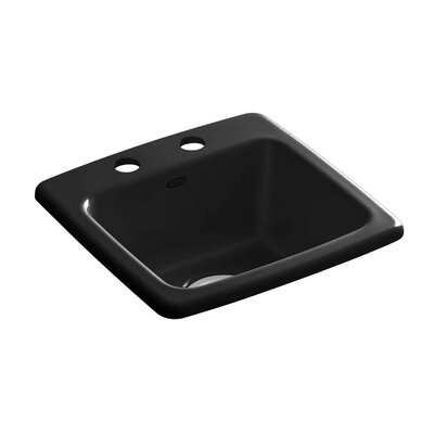 Gimlet Top-Mount Bar Sink Finish: Black Black, Faucet Drillings: 2 Hole
