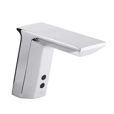 Geometric Single-Hole Touchless Dc-Powered Commercial Bathroom Sink Faucet with Insight Technology, Temperature Mixer and 6-3/4