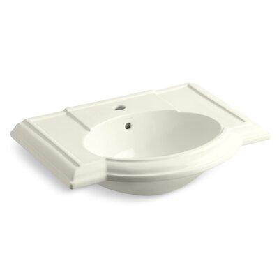 Devonshire 28 Pedestal Bathroom Sink Finish: Biscuit