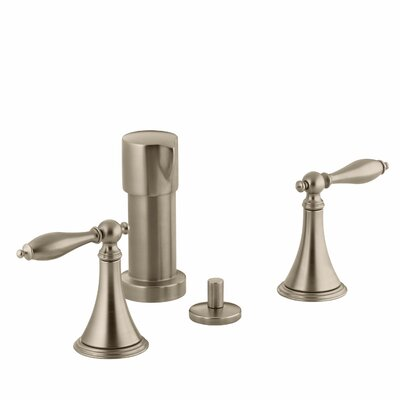 Finial Traditional Vertical Spray Bidet Faucet with Lever Handles and Matching Handle Inserts Finish: Vibrant Brushed Bronze