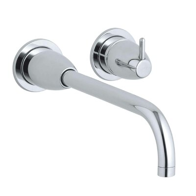 Falling Water Water Wall-Mount Bathroom Sink Faucet Trim with 10-1/4 Angular Spout, Requires Valve Finish: Polished Chrome
