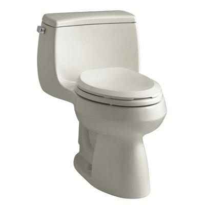 Gabrielle Comfort Height One-Piece Elongated 1.28 GPF Toilet with Aquapiston Flush Technology and Left-Hand Trip Lever Finish: Sandbar