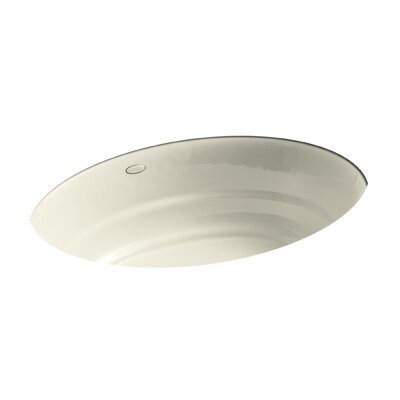 Garamond Oval Undermount Bathroom Sink Sink Finish: Cane Sugar