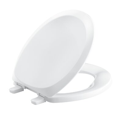 French Curve with Quick-Release Hinges Round-Front Toilet Seat Finish: White