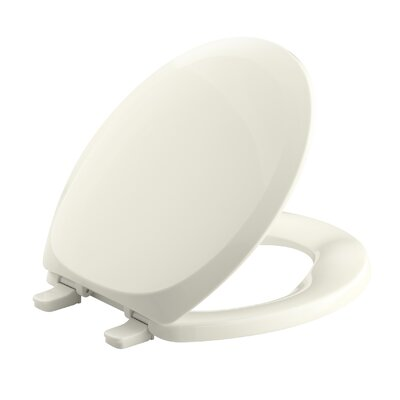 French Curve with Quick-Release Hinges Round-Front Toilet Seat Finish: Biscuit