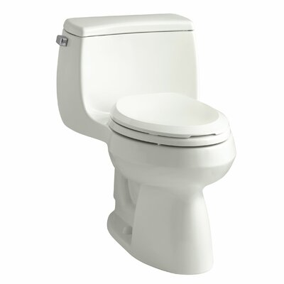 Gabrielle Comfort Height One-Piece Elongated 1.28 GPF Toilet with Aquapiston Flush Technology and Left-Hand Trip Lever Finish: Dune