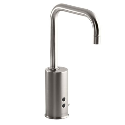 Gooseneck Single-Hole Touchless Dc-Powered Commercial Faucet with Insight Technology and Temperature Mixer Finish: Vibrant Stainless