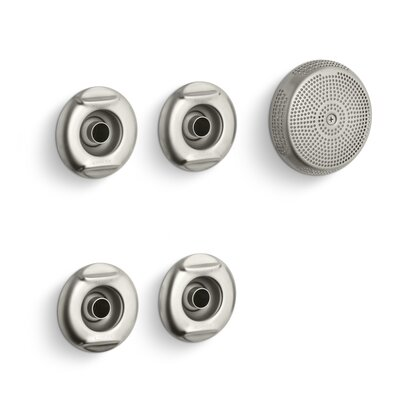 Flexjet Whirlpool Trim Kit with Four Jets Finish: Vibrant Brushed Nickel