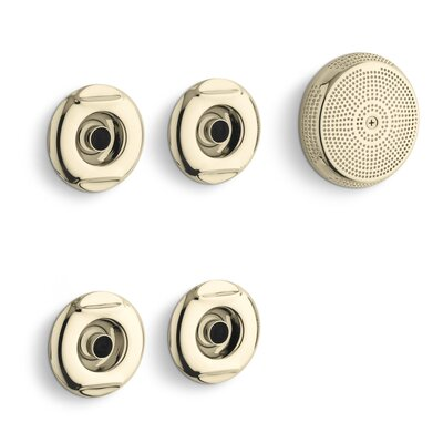 Flexjet Whirlpool Trim Kit with Four Jets Finish: Vibrant French Gold