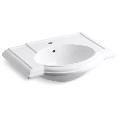 Devonshire� Ceramic 28 Pedestal Bathroom Sink with Overflow Finish: White