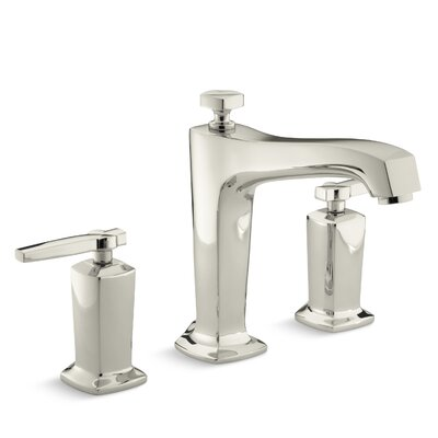 Margaux Deck-Mount Bath Faucet Trim for High-Flow Valve with Diverter Spout and Lever Handles, Valve Not Included Finish: Vibrant Polished Nickel