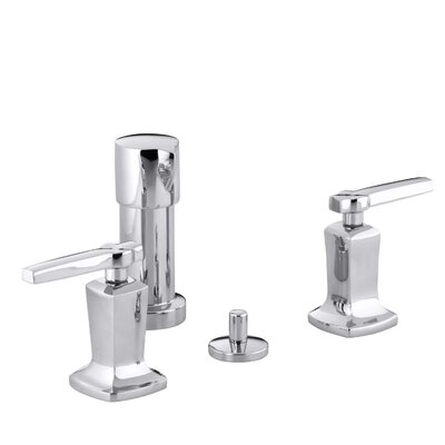Margaux Vertical Spray Bidet Faucet with Lever Handles Finish: Polished Chrome