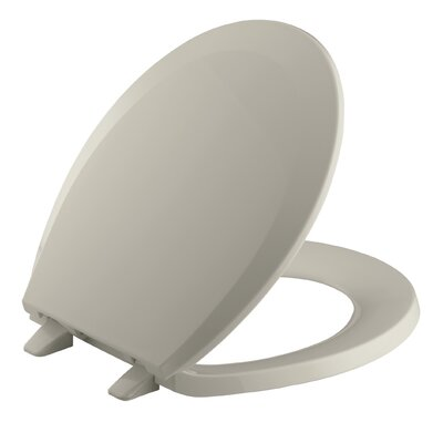 Lustra with Quick-Release Hinges Round-Front Toilet Seat Finish: Sandbar