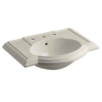 Devonshire 28 Pedestal Bathroom Sink Finish: Sandbar