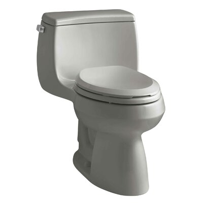 Gabrielle Comfort Height One-Piece Elongated 1.28 GPF Toilet with Aquapiston Flush Technology and Left-Hand Trip Lever Finish: Cashmere