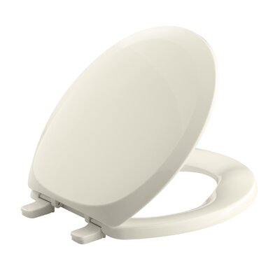 French Curve with Quick-Release Hinges Round-Front Toilet Seat Finish: Almond