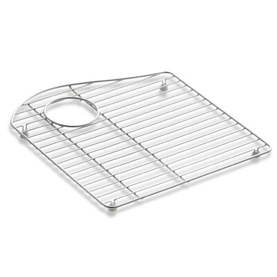 Lawnfield Stainless Steel Sink Rack, 15-13/32 x 16-1/2, for Left-Hand Bowl
