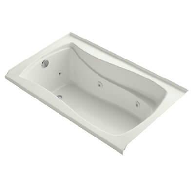 Mariposa Alcove 60 x 36 Whirpool Bathtub Finish: Dune