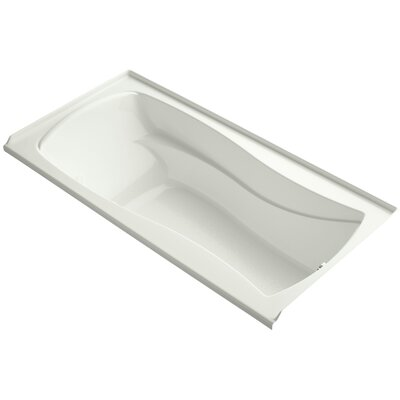 Mariposa Alcove Bubblemassage 72 x 36 Soaking Bathtub Finish: Dune, Drain Location: Right