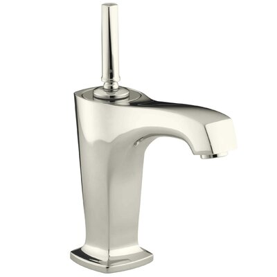 Margaux Single-Hole Bathroom Sink Faucet with 5-3/8 Spout and Lever Handle Finish: Vibrant Polished Nickel