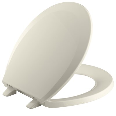 Lustra with Quick-Release Hinges Round-Front Toilet Seat Finish: Navy