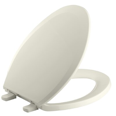 Lustra with Quick-Release Hinges Elongated Toilet Seat Finish: Biscuit
