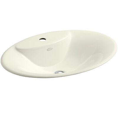 Maratea Self Rimming Bathroom Sink Finish: Biscuit