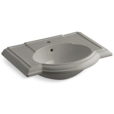 Devonshire� Ceramic 28 Pedestal Bathroom Sink with Overflow Finish: Cashmere