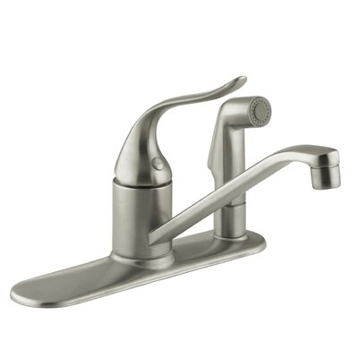 Coralais Three-Hole Kitchen Sink Faucet with 8-1/2