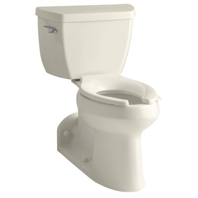 Barrington Comfort Height Two-Piece Elongated 1.0 GPF Toilet with Pressure Lite Flushing Technology and Left-Hand Trip Lever Finish: Almond