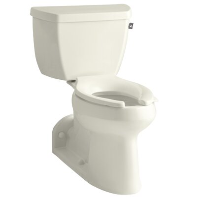 Barrington Comfort Height Two-Piece Elongated 1.0 GPF Toilet with Pressure Lite Flushing Technology and Right-Hand Trip Lever Finish: Biscuit