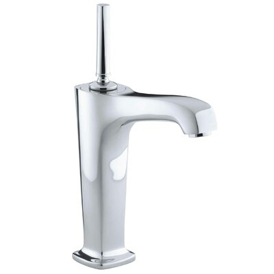 Margaux Tall Single-Hole Bathroom Sink Faucet with 6-3/8 Spout and Lever Handle Finish: Polished Chrome