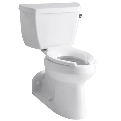 Barrington Comfort Height Two-Piece Elongated 1.0 GPF Toilet with Pressure Lite Flushing Technology and Right-Hand Trip Lever Finish: White