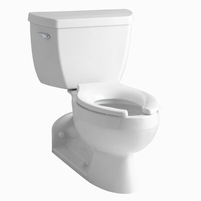 Barrington Two-Piece Elongated 1.0 GPM Toilet with Pressure Lite Flushing Technology, Left-Hand Trip Lever and Toilet Tank Lock Finish: White