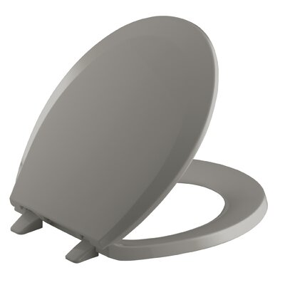 Lustra with Quick-Release Hinges Round-Front Toilet Seat Finish: Cashmere