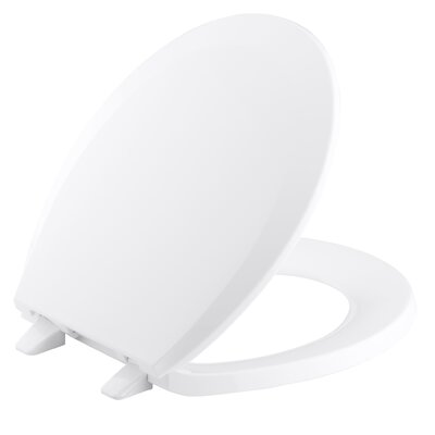 Lustra Round-Front Toilet Seat with Anti-Microbial Agent
