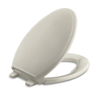 Glenbury Quiet-Close with Grip-Tightelongated Toilet Seat Finish: Sandbar