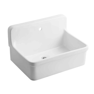Gilford 30 x 22 Single Bracket-Mounted Scrub-Up/Plaster Sink with Faucet Hole