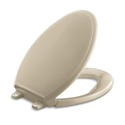 Glenbury Quiet-Close with Grip-Tightelongated Toilet Seat Finish: Mexican Sand