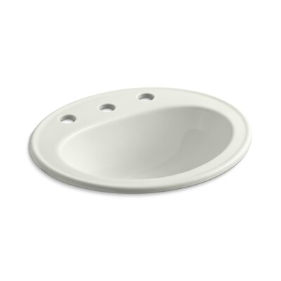 Pennington Self Rimming Bathroom Sink 8 Finish: Dune, Faucet Hole Style: Single