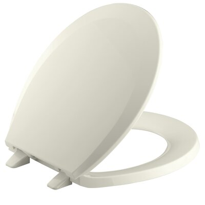 Lustra with Quick-Release Hinges Round-Front Toilet Seat Finish: Biscuit