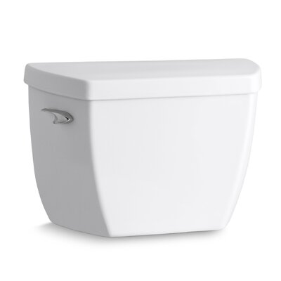 Highline Classic 1.0 GPF Toilet Tank with Tank Cover Locks and Left-Hand Trip Lever Finish: White