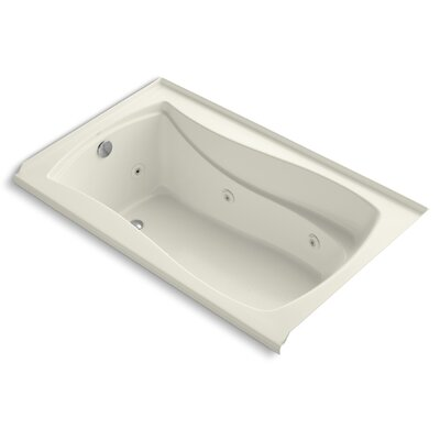 Mariposa 60 x 36 Whirlpool Bathtub Finish: Biscuit