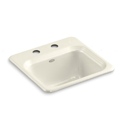 Northland Top-Mount Bar Sink Finish: Almond, Number of Faucet Holes: 1